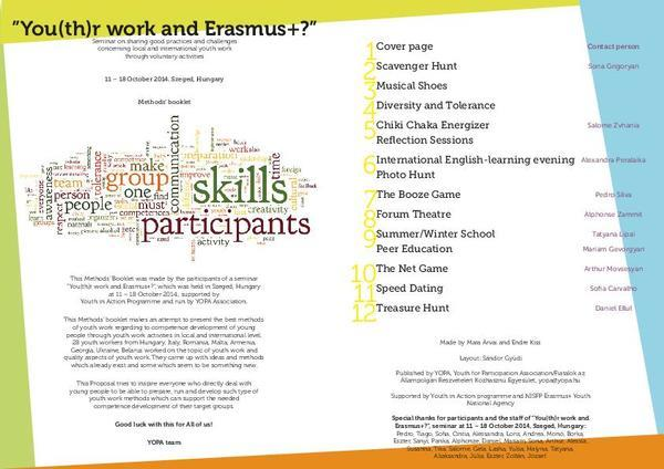 You(th)r work and Erasmus+?